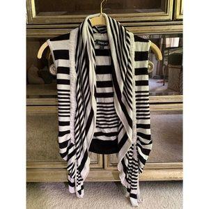 Adorable Black & White Bebe Flutter Sweater